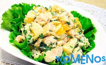 Pineapple chicken salad – exotic simple products!