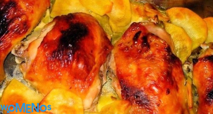 Chicken legs with potatoes in the oven is the simplest and most delicious dish