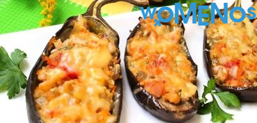 A tasty dish out of available ingredients: recipes aubergines stuffed with vegetables