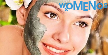 Mineral facial mask of blue clay